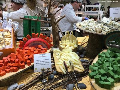 Pesto cheese at hotel buffet