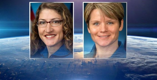 First all-female spacewalk in history postponed due to availability of spacesuits, (left to right) Christina Hammock Koch and Anne McClain. / Photo: NASA / (Source: MGN)