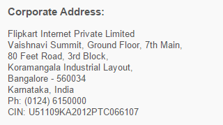 Flipkart corporate office address