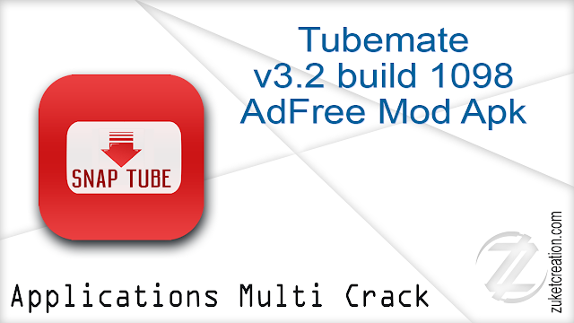 Tubemate v3.2 build 1098 AdFree Mod Apk