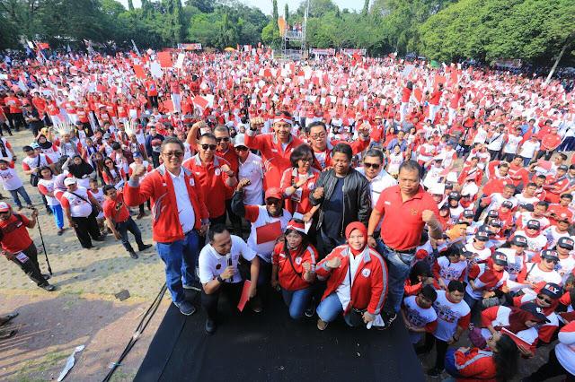 Wow 20 Ribu peserta meriahkan Kirab Kebangsaan di Bekasi
