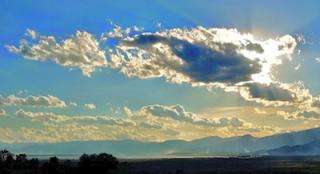 Sole coperto dalle nuvole