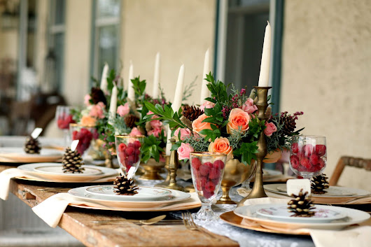 Burlap and Blooms: Winter Tablescape