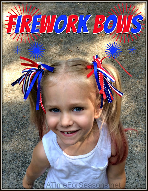 Firework Hair Bow Tutorial