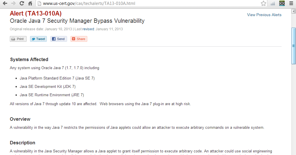 Java-Buddy: Alert: Oracle Java 7 Security Manager Bypass