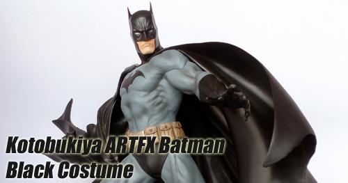 Kotobukiya ARTFX Batman Black Costume Version szobor bemutató