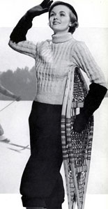 The Vintage Pattern Files: Free 1930's Knitting Pattern - Snow Train Winter Sports Suit Pattern