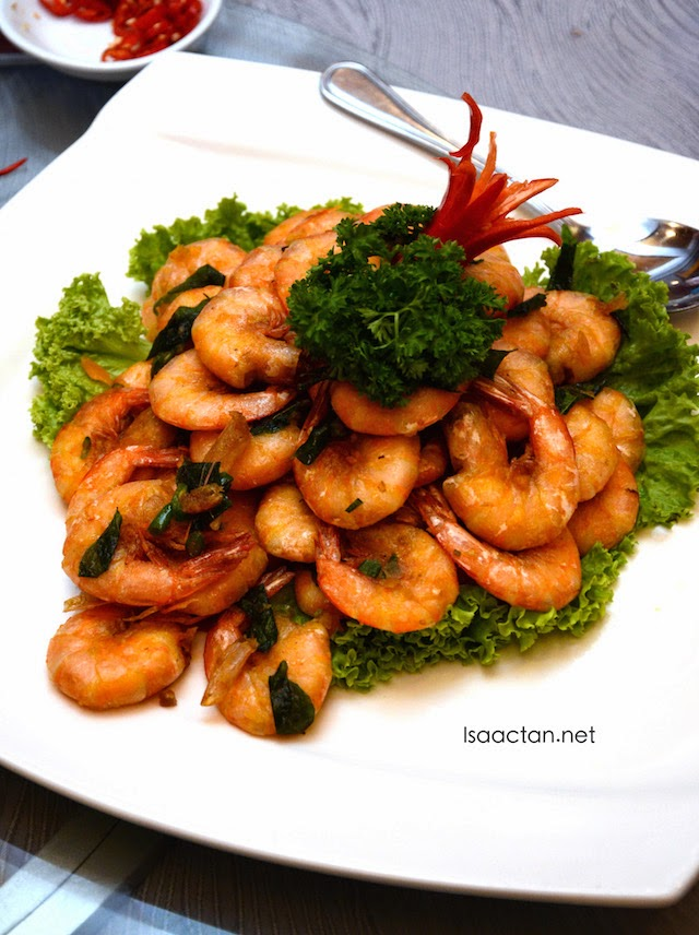 Stir Fried Butter Prawns
