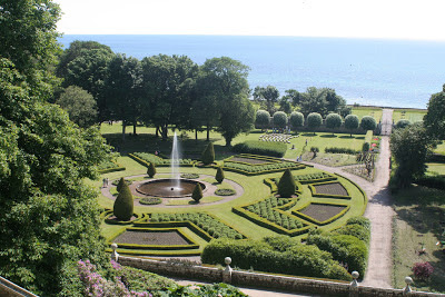 View from Dunrobin Castle, the gardens and the sea