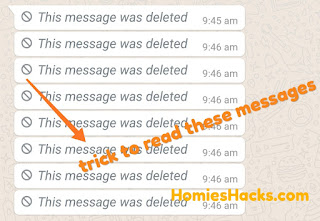 Read deleted WhatsApp messages - Homies Hacks