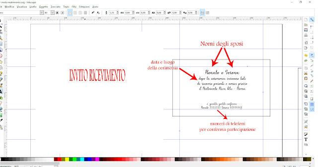 Elementi grafici di un invito per ricevimento