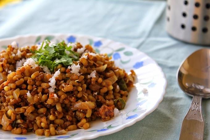 Moth Bean Stir Fry - Matki Chi Usal