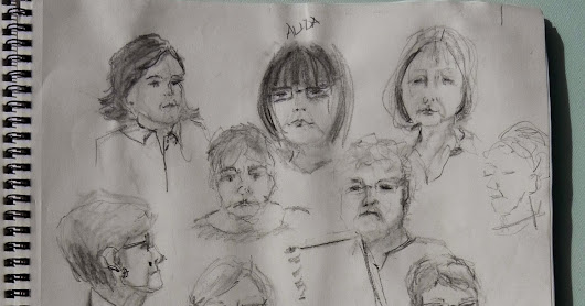 Summerland Cottage Studio:  Transition from doodling to life drawing