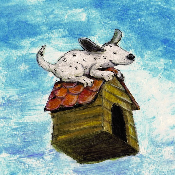 Kinderbuchillustration, kleiner Hund, Tiere, dog, children's book illustration