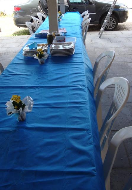 Festa de Batizado - mesa dos convidados