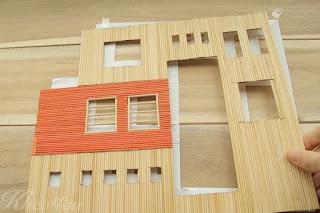 Cách làm nhà biệt thự bằng tăm tre
