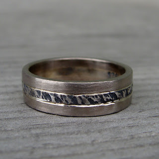 distressed wedding band