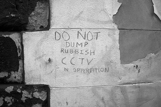 black and white, urban decay, urban photography, urban photo, do not dump, sign, contemporary,