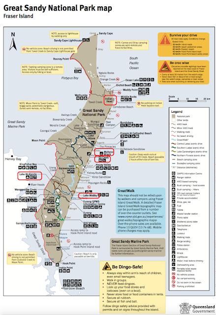 Mapa oficial Isla Fraser