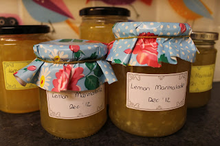 jars of home made lemon marmalade