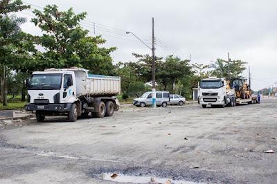 Pavimentação da Avenida Princesa Isabel em Iguape