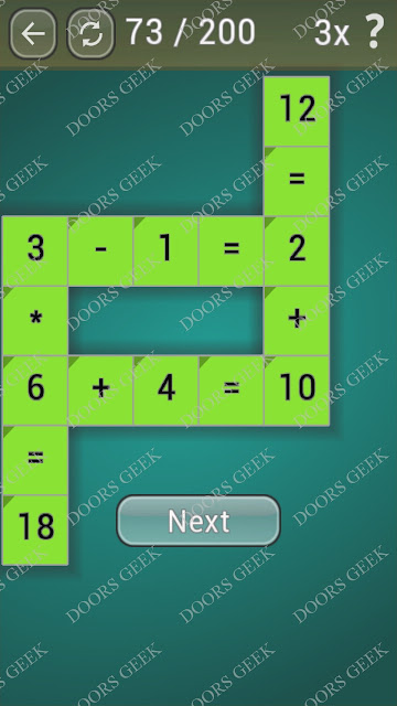 Math Games [Beginner] Level 73 answers, cheats, solution, walkthrough for android