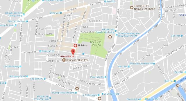 Cho thuê nhà nguyên căn Khu dân cư Bình Phú quận 6