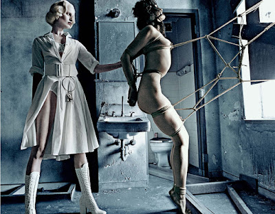 steven klein karolina kurkova institutional white interview 2012 bondage