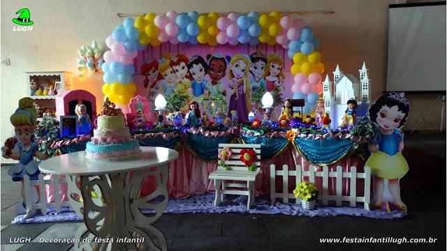 Decoração festa Princesas Baby Disney - Tradicional luxo