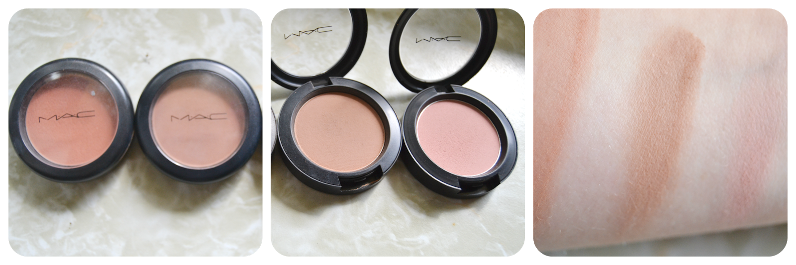 mac powder blush swatch gingerly harmony breath of plum