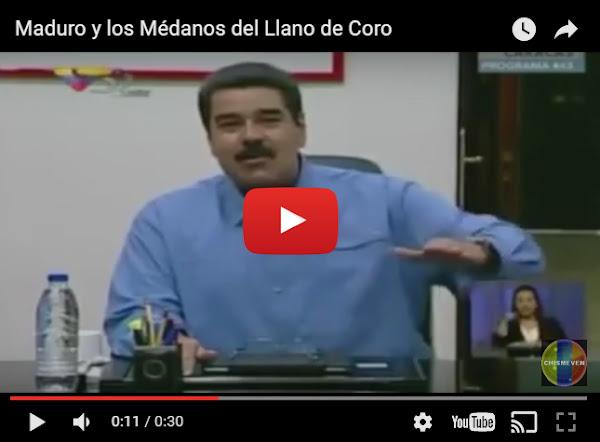Maduro descubre un Llano entre los Médanos de Coro