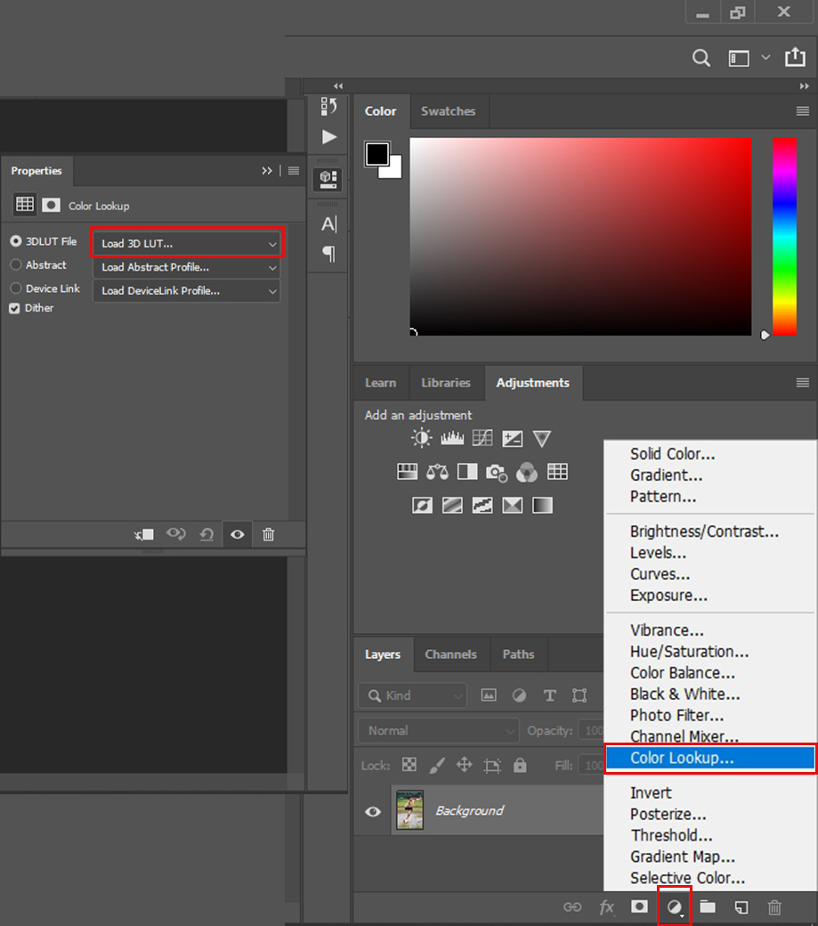 Download free top 5 color lookup-3D LUTs presets for Photoshop CC