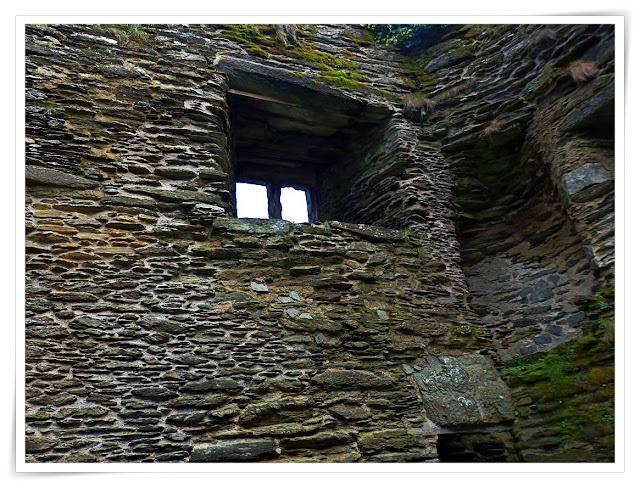 Inside Polruan Castle