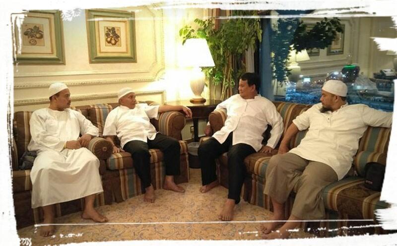 Pangeran Muhammad Tolak Prabowo, Amien Rais dan Rizieq