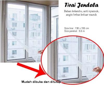 tirai jendela anti nyamuk