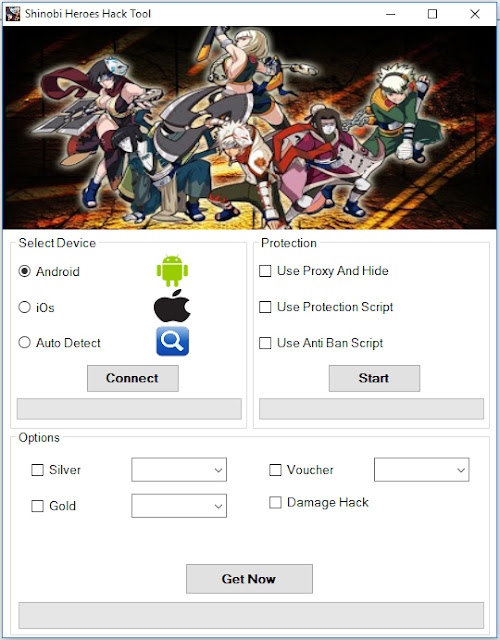 Download Shinobi Heroes Hack Tool And Open It Choose device type ...