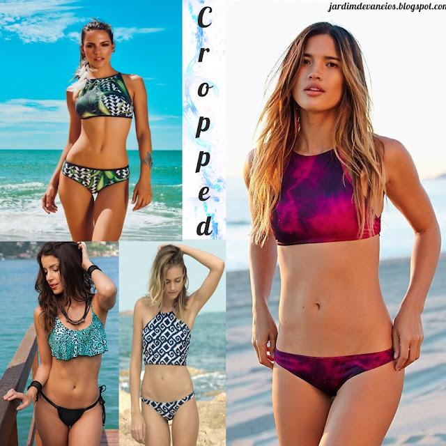 Hits do verão moda praia biquinis cropped