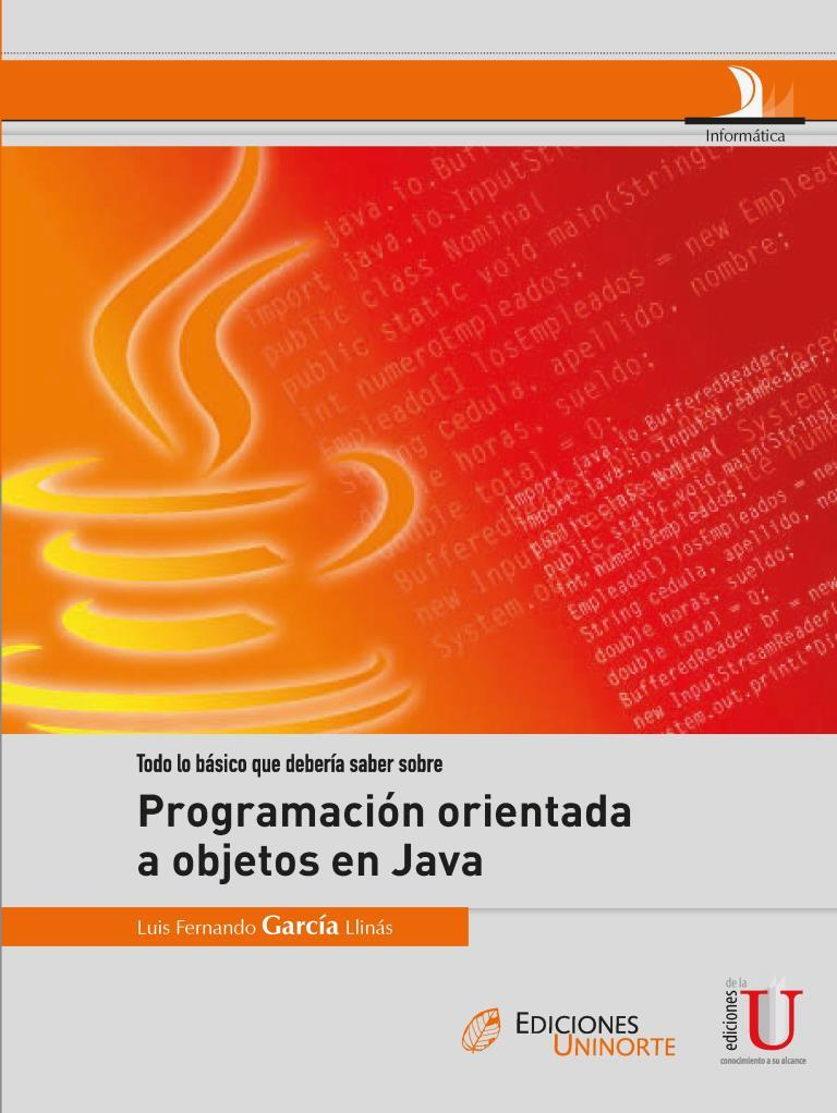 Programación Orientada a Objetos en Java – Luis Fernando García Llinás