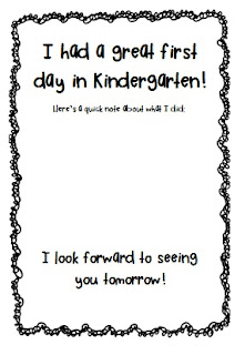 photo of: First Day of Kindergarten FREEBIE via PreK+K Sharing from Simply Kinders