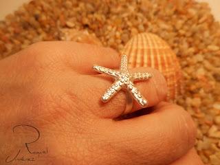 look anillo estrella de mar
