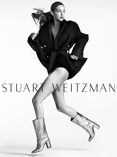 Fashion Model, Television Personality, @ Gigi Hadid for Stuart Weitzman Fall 2016 Campaign
