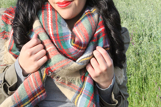 Modcloth Oversized Tartan Plaid Blanket Scarf | Will Bake for Shoes