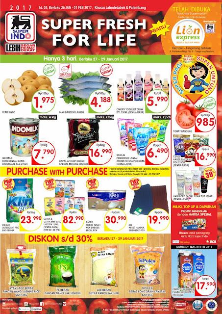 Katalog Super Indo Jabodetabek dan Palembang Edisi 26 Januari - 1 Pebruari 2017