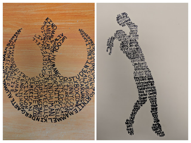Micrography Text as Art Middle School Art Lesson