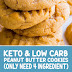 Keto & Low Carb Peanut Butter Cookies (Only Need 4 Ingredient)