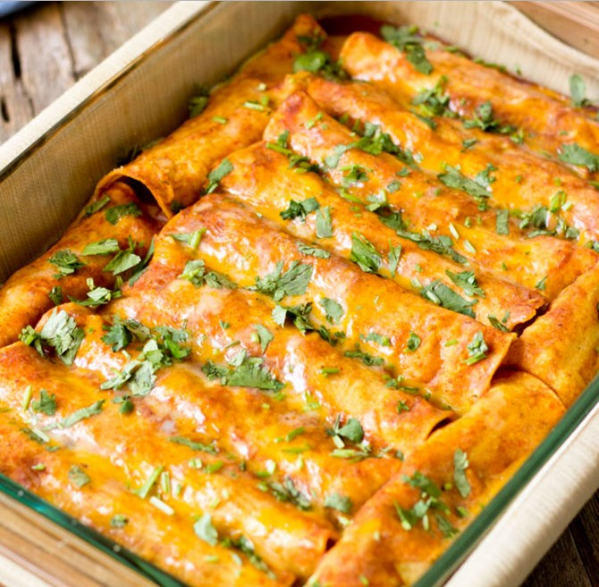 Black Bean Vegan Enchiladas #easyrecipe #meatless
