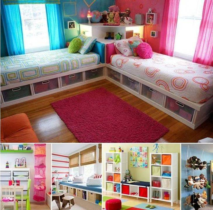 Diy Bedroom Ideas For Decorating The Kid S Bedroom To Be: 25 Creative Kid's Bedroom Storage Ideas