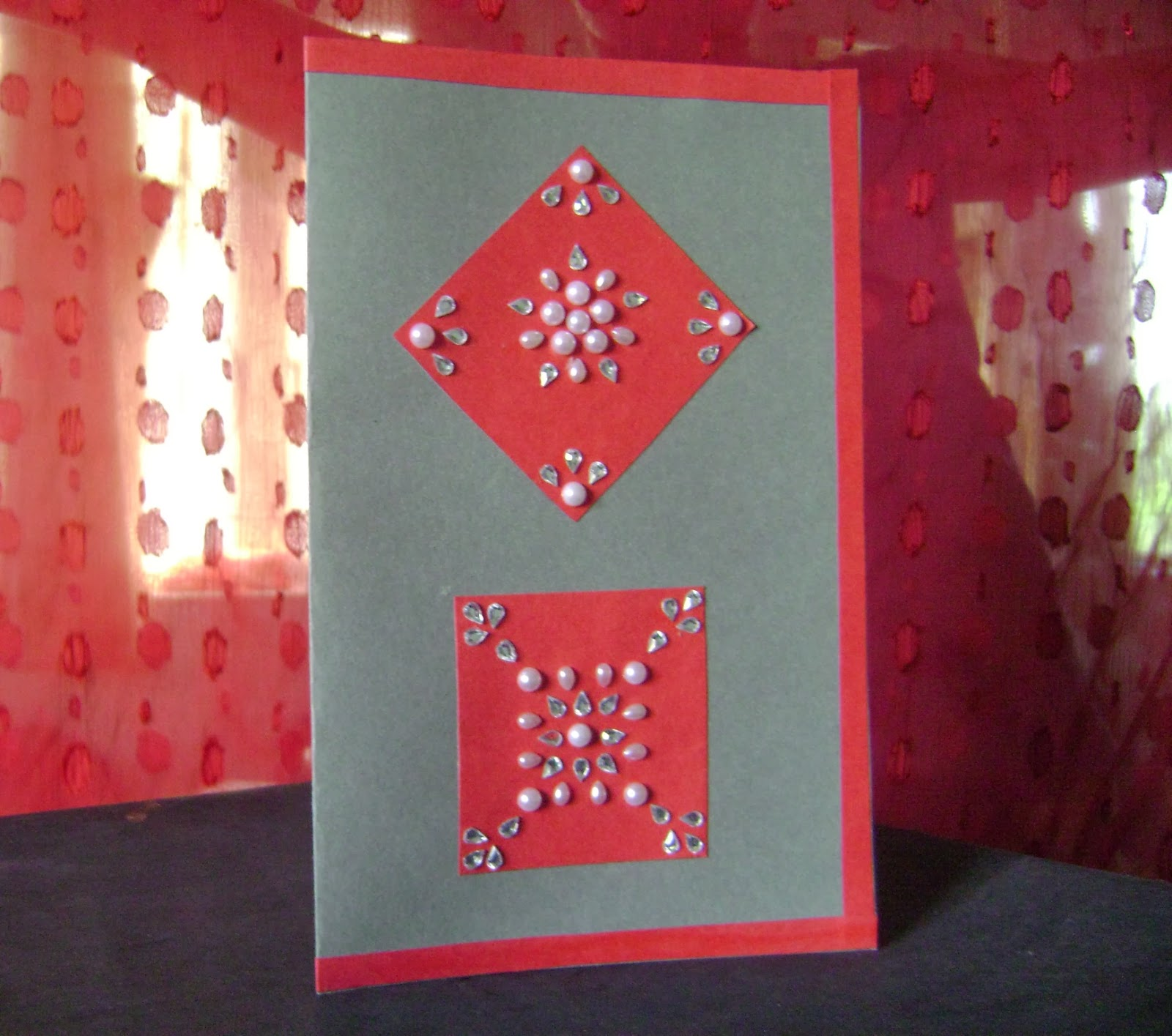 pearl and kundan diwali card tutorial  moonshine and