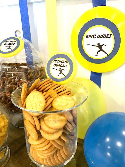 Ultimate Frisbee Party Snacks @michellepaigeblogs.com
