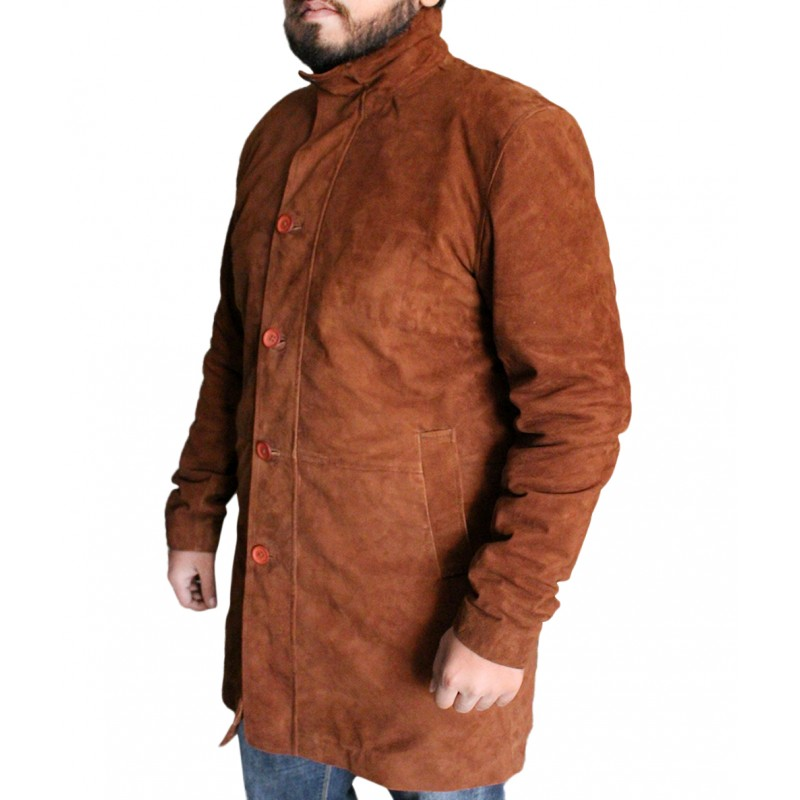 4f67d92b091 Sheriff Longmire Coat Jacket. Laverapelle Men s Sheriff Walt (Robert Taylor)  Cow Suede Leather ...